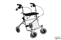 Rollator Provo weight approx. 12.5 kg, colour white.