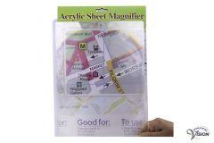 Page magnifier, rigid A4 fresnel lens.