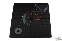 Geometry board made of polypropylene, for making tactile geometrical figures and graphs