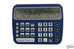 Calculator DoubleCheck XL Voice with very versatile calculating functions
