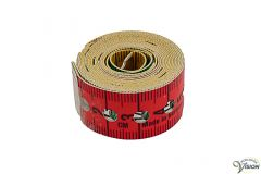 Measuring tape with a length of 1.50 m, with holes