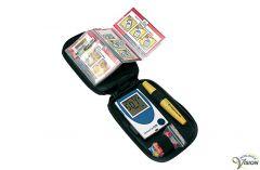 SensoCard Plus compact Dutch and English talking blood sugar meter.