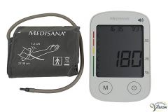 Blood pressure gauge Medisana Voice 6 languages, of which Dutch, talking device.