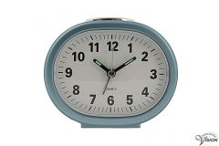 Alarm clock quartz for seniors and partially sighted with white face.