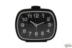 Alarm clock quartz for seniors and partially sighted with black face.