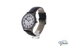 Gardé Jumbo XL watch, matt titanium case with white face of 37 mm.