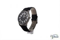Gardé Jumbo XL watch, matt titanium case with black face of 37 mm.