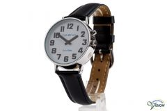 DianaTalks Prime Large, 10 languages of which Dutch talking 12/24 hour gent's watch with analogue white face.
