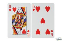 Playing cards large size with large pictures, large figures and characters, type Giant