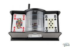 Card shuffler with manuel opration