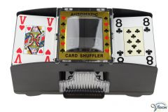 Card shuffler with automatic operation