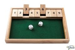 Shut the box, wooden game