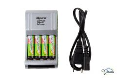 Battery charger with security timer and trickle charger