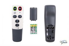 Doro HandleEasy 321RC universal remote control for TV/DVD/VIDEO/AUDIO, colour white/grey.