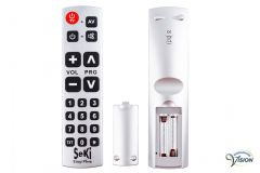 Seki Easy Plus universal remote control for TV/teletext, colour silver.